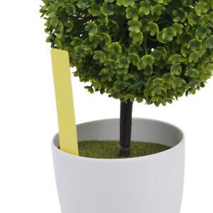 100-STK-Pflanzenschilder-Weiss-Plastik-Pflanzenstecker-zum-Beschriften-Garten