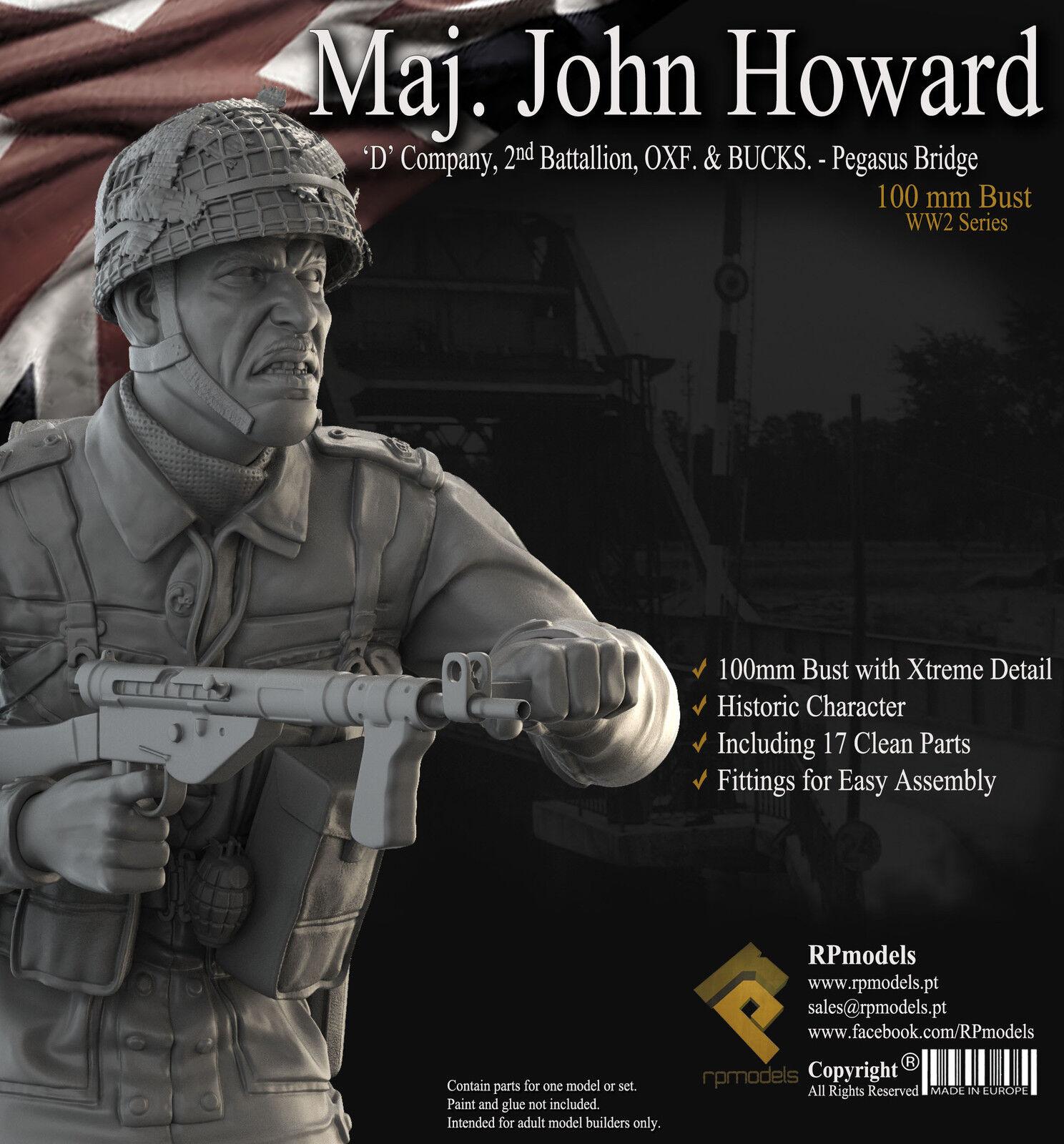 RP Models Maj John Howard WW2 Unpainted 1 9th bust kit Ltd Edition OOP LAST FEW