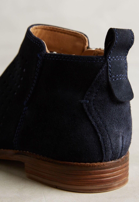 Nuevo anthropologie Hudson Revelin Marino Ante Azul Marino Revelin Tobillo botas Talla 38 H London 5b1505