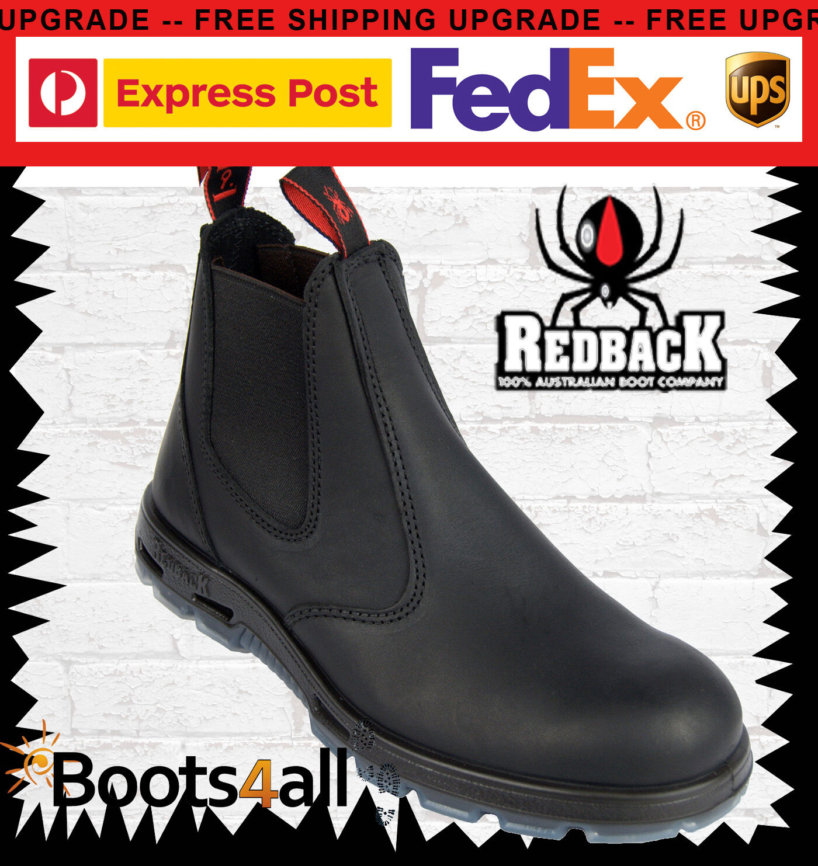 RedBack UBBK Chelsea Boots Schuhe Stiefeletten Schwarzes Echtleder