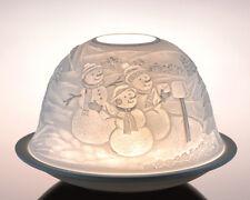 Plaristo - DOME LIGHTS TEA LIGHT CANDLE HOLDER - Snowman Winter Christmas