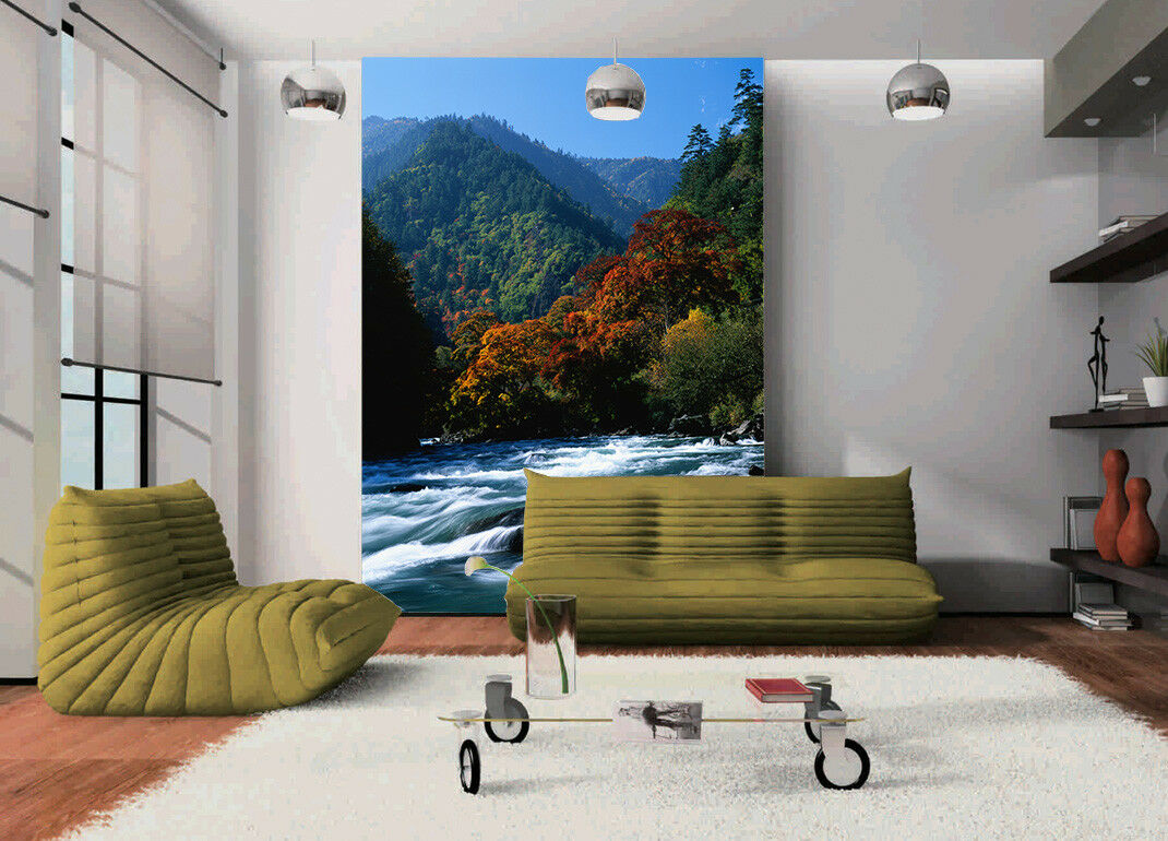 3D Autumn Trees 727 Wallpaper Mural Paper Wall Print Wallpaper Murals UK Lemon