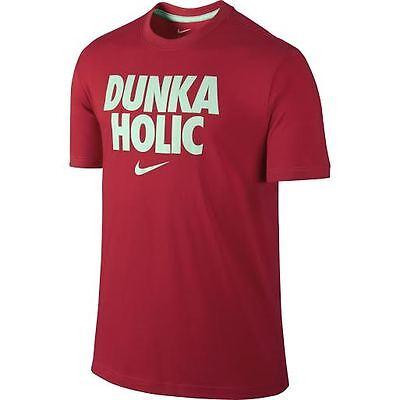 "XL ** NWT NIKE Mens Dri-FIT Cotton /""DUNKA HOLIC/"" T-Shirt ** UNIVERSITY RED//MINT"