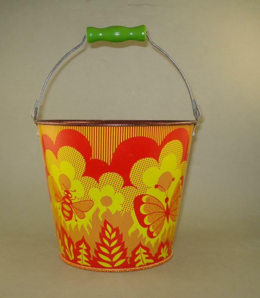 1980s RARE VINTAGE NORMA RUSSIAN USSR SAND PAIL TIN TOY ,NEVER USED