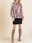 Umgee-USA-Sheer-Floral-Print-Puff-Sleeve-Smocked-Neck-Top-NWT-Size-S thumbnail 1