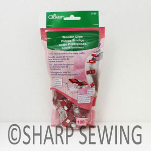 CLOVER-WONDER-CLIPS-100-PIECES-3159-for-CRAFTS-and-HOBBIES