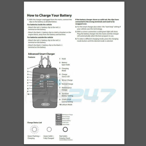Ring RSC706 12v 6A 8 Stage Start//Stop Car 4x4 Maintenance Smart Battery Charger