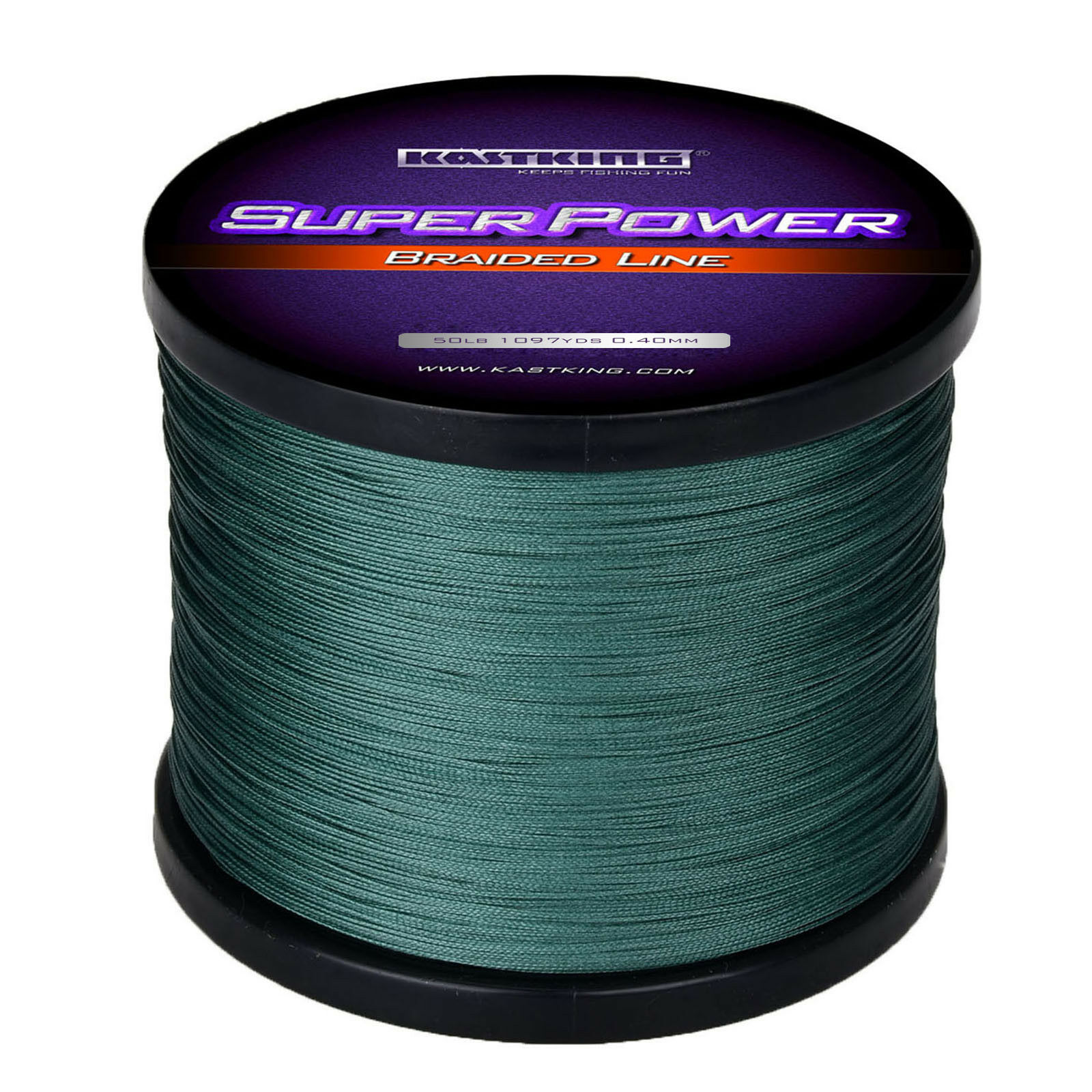 KastKing Superpower Braided Fishing Line  PE Fishing LIne 1100Yds 50LB- Green