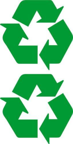 set of 2x sticker recycle environment car door trash decal macbook self adhesive
