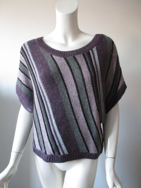 33b5dac7b Kimchi Blue Urban Outfitters Multi Color Stripe Short Sleeve Knit Sweater  Top S
