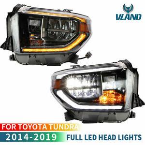 VLAND-LED-Phares-pour-2014-18-Toyota-Tundra-Ramassage-Feux-Avant-Avec-sequentiel