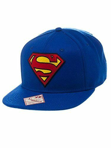 6a1cb8ea3a040 Superman Invincible Logo Snapback Cap Hat One Size Blue red DC Comics  Licensed for sale online