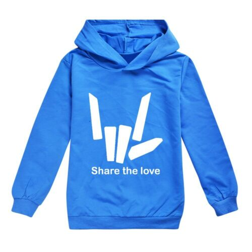 New Share The Love Kids Hoodie Boys Girls Pullover Jumper Casual Tops Gift