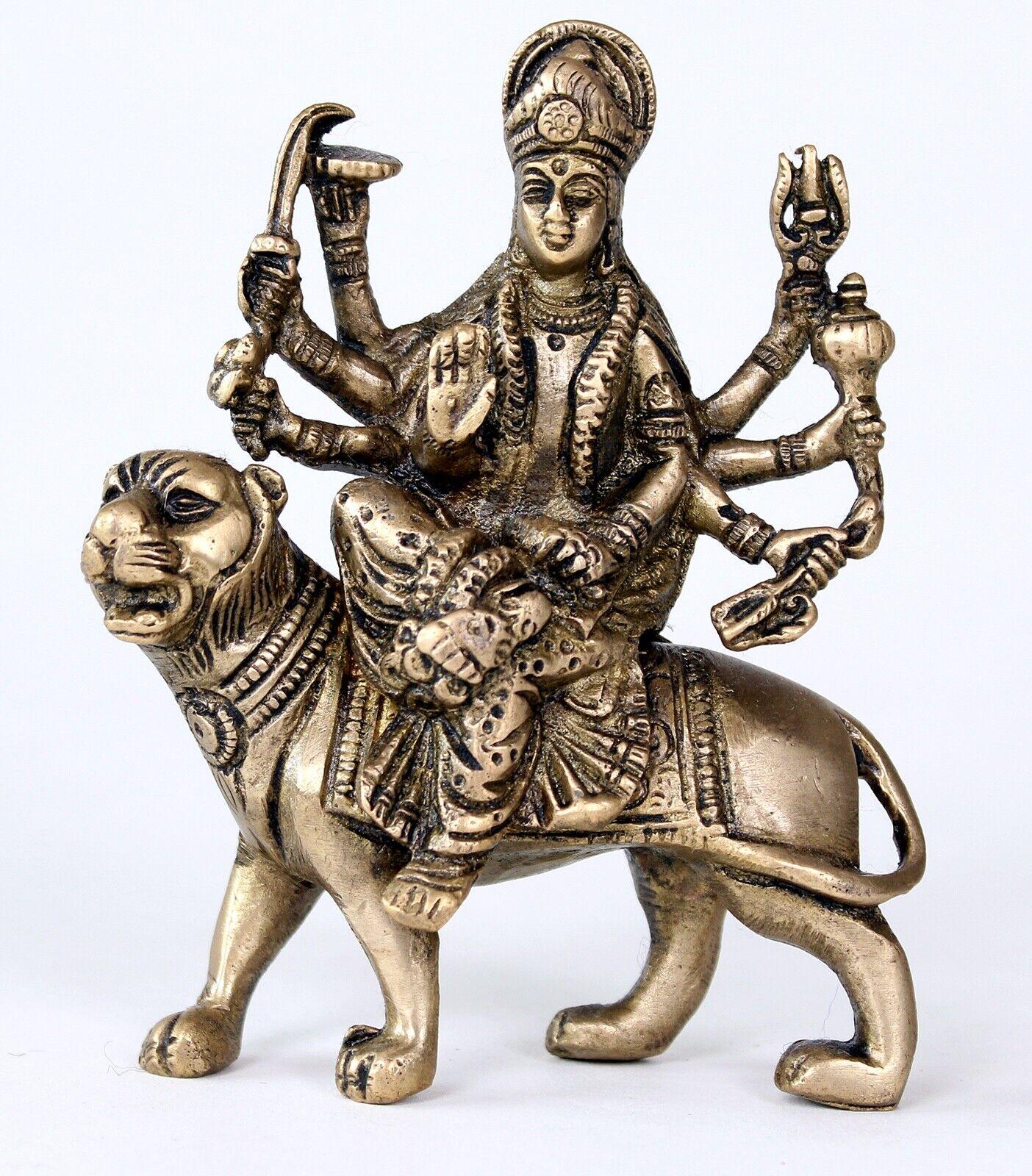 Bella Durga statua 13 cm di altezza Himalaya BUDDHA YOGA MEDITAZIONE India