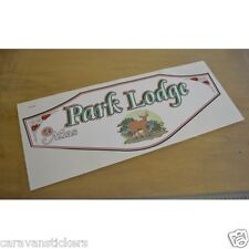 ATLAS Park Lodge Static Caravan Sticker Decal Graphic - SINGLE