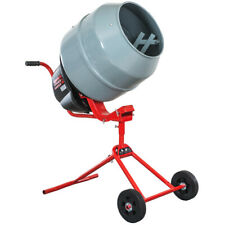 Portable Cement Mixer 46 Cubic Ft Electric Power For Mixing Stucco Concrete