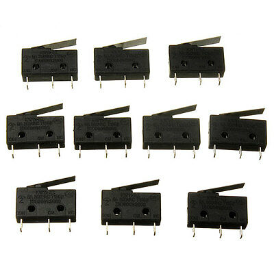 10pcs 3 Pin Tact Switch KW11-3Z 5A 250V Microswitch Handle Sensitive Quality