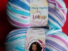Mary Maxim Baby Lolipop yarn, Berry Punch, lot of 2, (250 yds each)