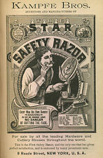 Framed 19th Century Advertisement Print – Kampfe Bros. Safety Razors (Picture)