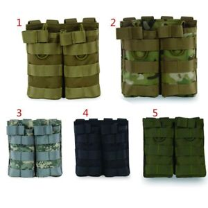 Tactical-MOLLE-Double-Open-Top-Mag-Pouch-Magazine-Pouch-Airsoft-Military-Bag