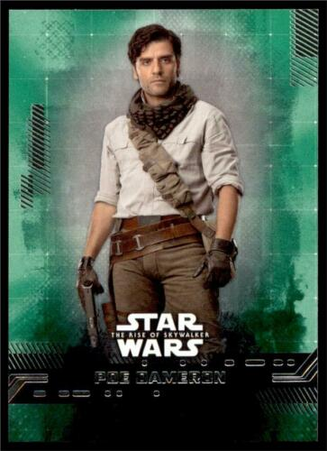 2019 Topps Star Wars Rise of Skywalker Green #3 Poe Dameron