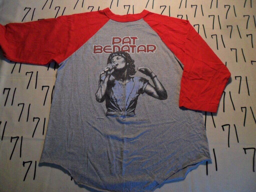 Large- Vintage Pat Benatar Precious Time Tour 1981 Rare 3/4 Sleeve T- Shirts