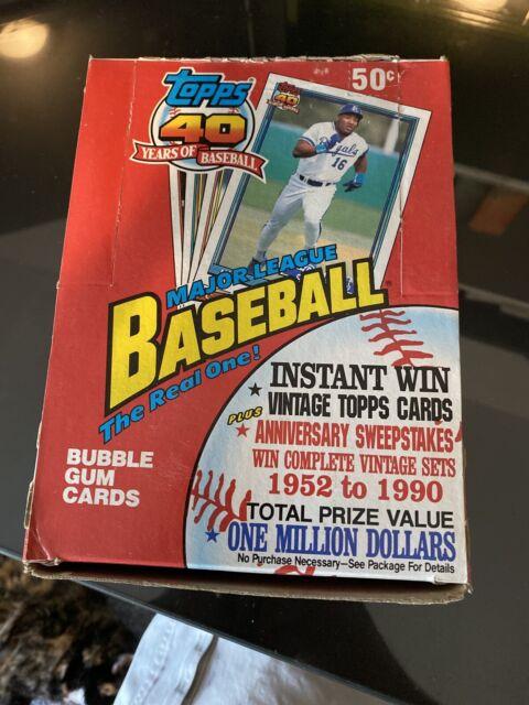 1991 Topps Baseball Factory Sealed Wax Pack Box 36 packs