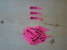 AAE MAX HUNTER LOGO VANES HOT PINK 36 PACK archery fletching