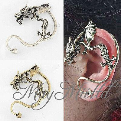1Pcs Cool Fly Dragon Ear Cuff Pin Earring Stud Vintage Punk Rock Eardrop Hot W