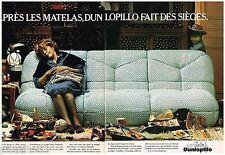 PUBLICITE ADVERTISING 095  1977  DUNLOPILLO   sièges canapé LAGO (2p)