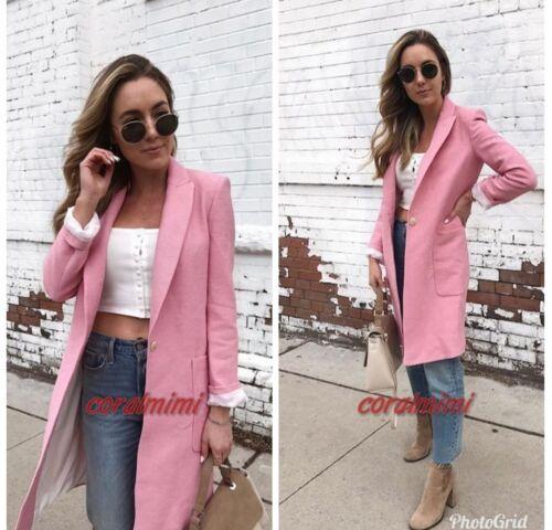 M Zara Onde Longue Rose Ss18 Taille New Manteau wrx1pfrv0q