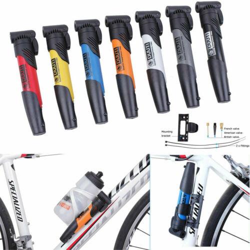 Mini Portable Bike Air Pump MTB Road Bicycle Cycling Pump Schrader Presta Valve