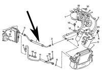 Air Conditioning,ac,accumulator Hose,c4 Corvette,1994,95,96,5.7l,lt1,new
