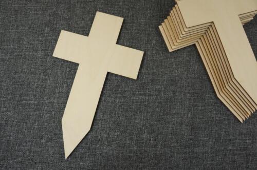 10 Stk. Kreuz aus Holz Blank Basteln Dekoration Wohnen Malen Aufhängen /N93/