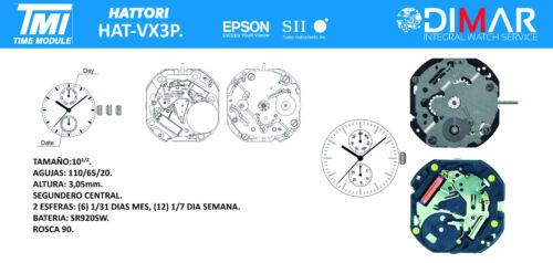 Calibre Tmi Epson Bewegung Hattori VX3P