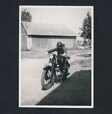 Motorrad ZÜNDAPP Motorbike * Vintage 50s Amateur-Foto