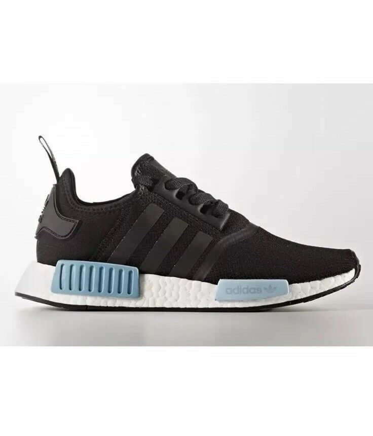 Adidas NMD R1 R1 R1 Runner Boost Core Black Mint Icy bluee Women's BY9951 SZ10 11bb6c