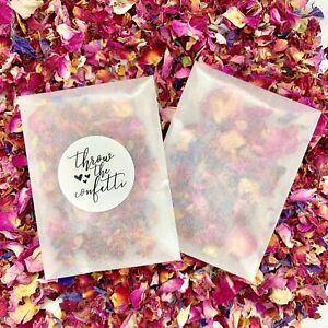50-Rose-Petal-Confetti-Packets-Natural-Dried-Real-Biodegradable-Wedding-Confetti