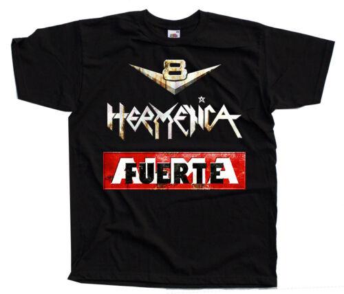 Argentine band DTG T-SHIRT Almafuerte S-5XL Hermetica BLACK V8