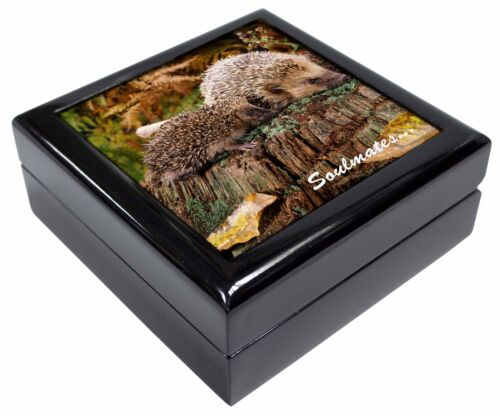 SOUL-70JB Hedgehogs /'Soulmates/' Sentiment Keepsake//Jewellery Box Christmas Gift