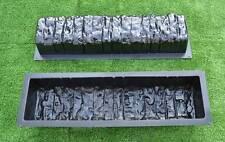 2pcs bordo in pietra cemento Stampi Stampo Bordo Bordatura Log #BR05