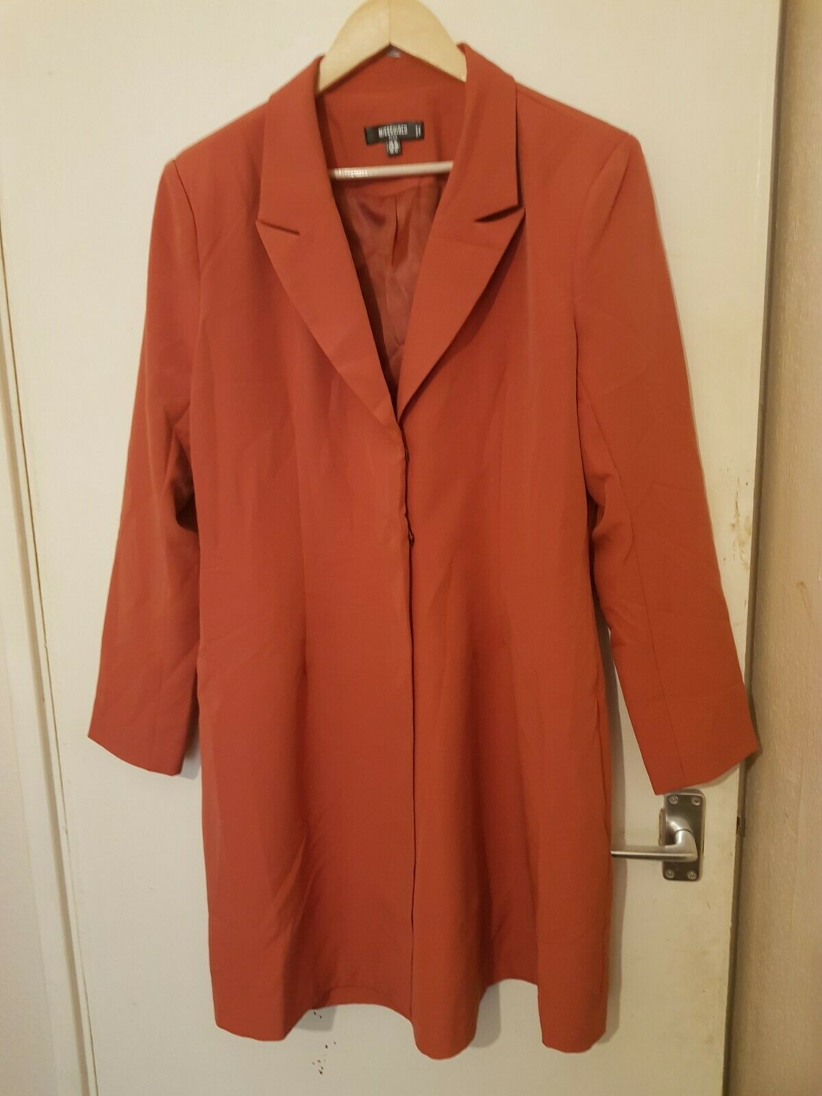 Missguided Plus, Womens Jacket/Coat, Color: Peach/Pink, Size: UK-16Plus, Used
