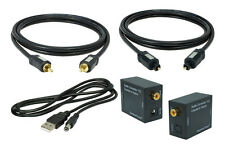 SunshineTronic Koaxial-Optisch Wandler + Koaxial Kabel + Toslink + USB-Kabel 0.7