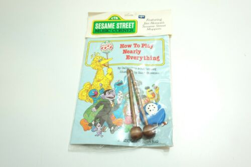 VINTAGE NEW NOS 1982 SESAME STREET MUSIC CORNER WITH KAZOO AND WOODEN MALLETS