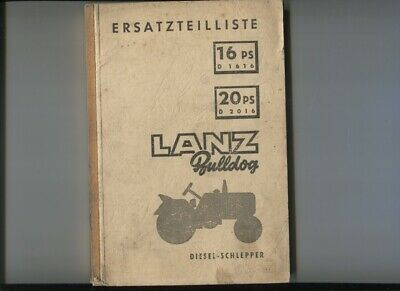 Lanz Bulldog 16 Ps D1616 20 Ps D2016 3 Manuels Deutsch Text N°56