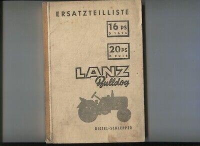 20 Ps D2016 3 Manuels Deutsch Text N°56 Lanz Bulldog 16 Ps D1616