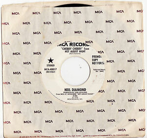 NEIL-DIAMOND-CHERRY-CHERRY-Live-Megarare-1972-US-PROMO-Single-Release