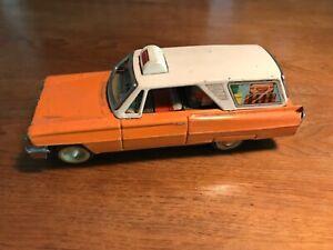 Giocattolo in latta Auto  familiare americana Anni'60-Made Old CHINA 1960-MF712
