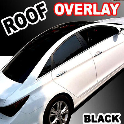 "Gloss Black-Out Moon Roof Overlay Tint Vinyl Top Cover Wrapping Film 48""x60"" C11"
