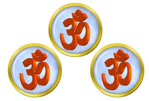Om-3D-Hindou-Marqueurs-de-Balles-de-Golf